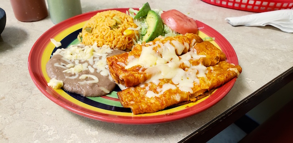 Cheese Enchiladas Dinner Plate